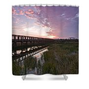 Celery Fields Sunset Shower Curtain