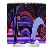 Celestial Cave Digital Art Shower Curtain