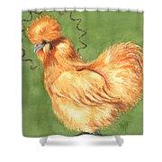 Celestial Chicken Sweet Potato Shower Curtain