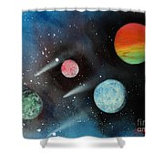 Celestial Planets Shower Curtain
