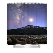 Celestial Sky With Milky Way Galaxy Shower Curtain