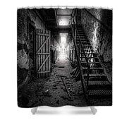 Cell Block - Historic Ruins - Penitentiary - Gary Heller Shower Curtain
