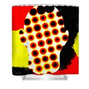 Cell Electrodes Shower Curtain