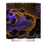 Cell Forms 2 Shower Curtain