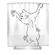 Cell-phone-cover-cat1 Shower Curtain