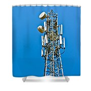 Cell Tower And Radio Antennae Shower Curtain