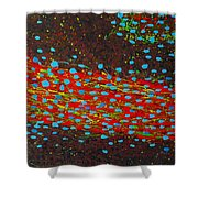 Cell Tube Shower Curtain