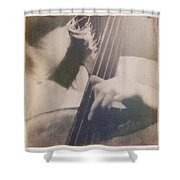 Cello Player Shower Curtain