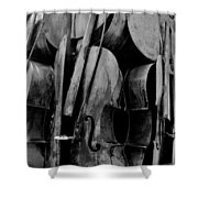 Cellos 6 Black And White Shower Curtain