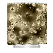 Cells Under Microscope - Sepia Tone Shower Curtain