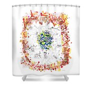 Cellular Generation Shower Curtain