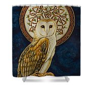 Celtic Barn Owl Shower Curtain