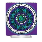 Celtic Butterfly Mandala Shower Curtain