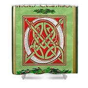 Celtic Christimas O Initial Shower Curtain