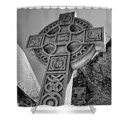Celtic Cross At Trinity Shower Curtain
