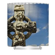 Celtic Cross, Cong Abbey, Ireland Shower Curtain