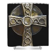 Celtic Cross Sepia Shower Curtain