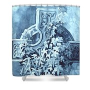 Celtic Cross Study Shower Curtain