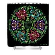 Celtic Fairy Mandala Shower Curtain