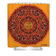 Celtic Fall Fairy Mandala Shower Curtain