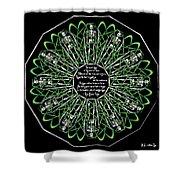 Celtic Flower Of Death Shower Curtain