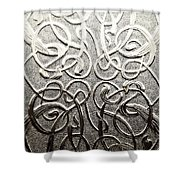 Celtic Glass Shower Curtain