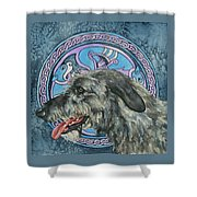 Celtic Hound Shower Curtain