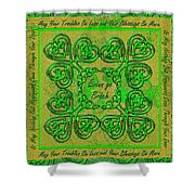 Celtic Irish Clover Home Blessing Shower Curtain