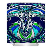 Celtic Love Dragons Shower Curtain