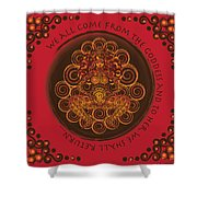 Celtic Pagan Fertility Goddess In Red Shower Curtain