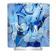 Celtic Peace Dove Greeting Card Shower Curtain