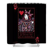 Celtic Queen Of Hearts Part I Shower Curtain