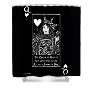 Celtic Queen Of Hearts Part I In Black And White Shower Curtain