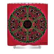Celtic Summer Fairy Mandala Shower Curtain