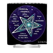 Celtic Twinkle Twinkle Shower Curtain