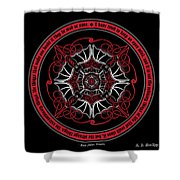 Celtic Vampire Bat Mandala Shower Curtain