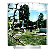 Cematary With Lemon Tree Shower Curtain