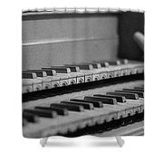Cembalo Keyboards Shower Curtain