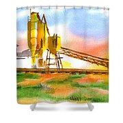 Cement Plant Across The Tracks Shower Curtain by Kip DeVore