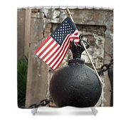 Cemetary Flag Shower Curtain
