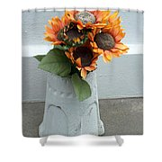 Cemetary Flowers 1 Shower Curtain