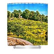 Cemetary Ridge Gettysburg Battleground Shower Curtain