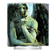 Cemetery Angel 2 Shower Curtain