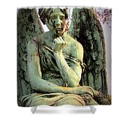 Cemetery Angel 3 Shower Curtain