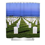 Cemetery At Waterfront, Fort Rosecrans Shower Curtain