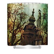 Cemetery Dusk Shower Curtain