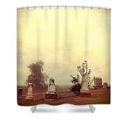 Cemetery In The Fog Shower Curtain