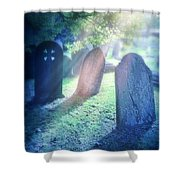 Cemetery Light Shower Curtain