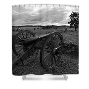 Cemetery Ridge Gettysburg Battlefield Shower Curtain by James Brunker