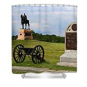 Cemetery Ridge Gettysburg Shower Curtain by James Brunker